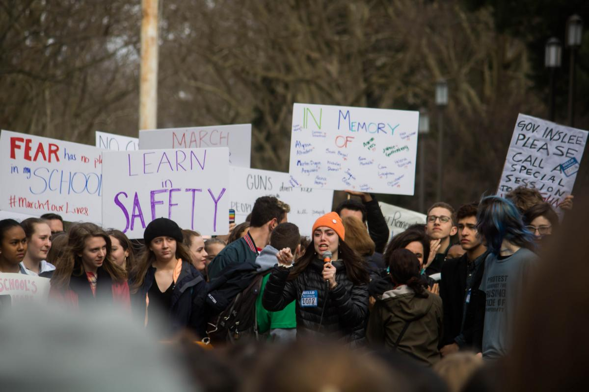 Student walkout in Seattle