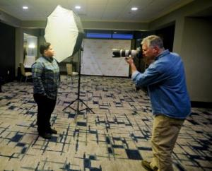 "John Noltner takes portraits at ""The Moment is Now"" national convening"