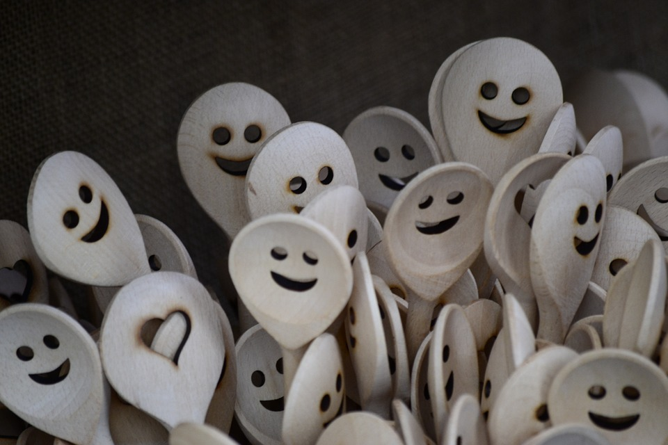 Spoons with smiley faces